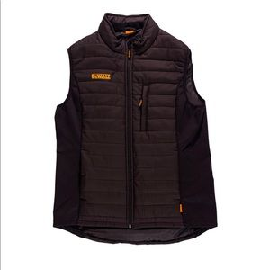 New Dewalt  Hybrid Mens Black Insulated Vest Lrg